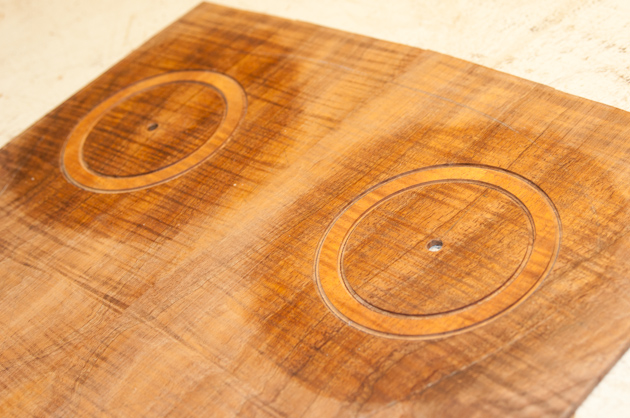 koa inlay and channels cut