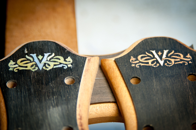 2 DeVine custom headstock inlay