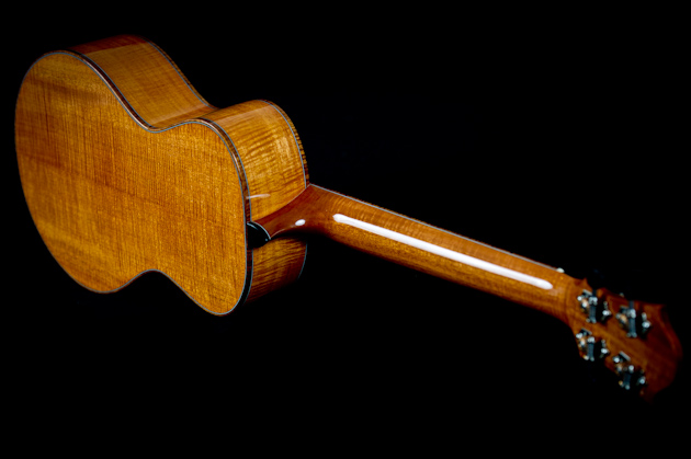 cuban mahogany ukulele back side