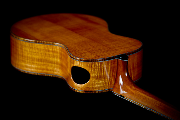 cuban mahogany ukulele back top