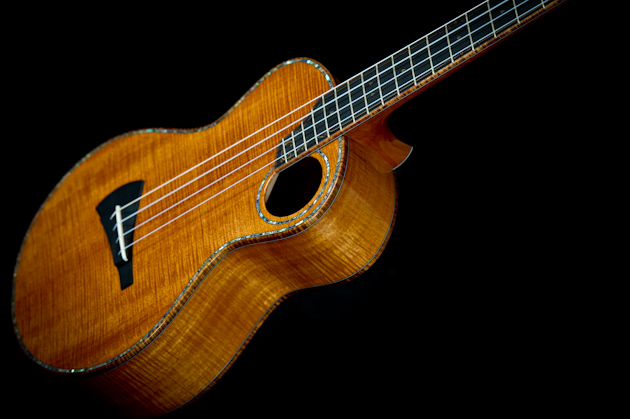 cuban mahogany ukulele side left