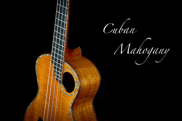 cuban mahogany ukulele side left crop