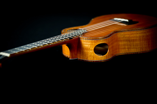 cuban mahogany ukulele side neck