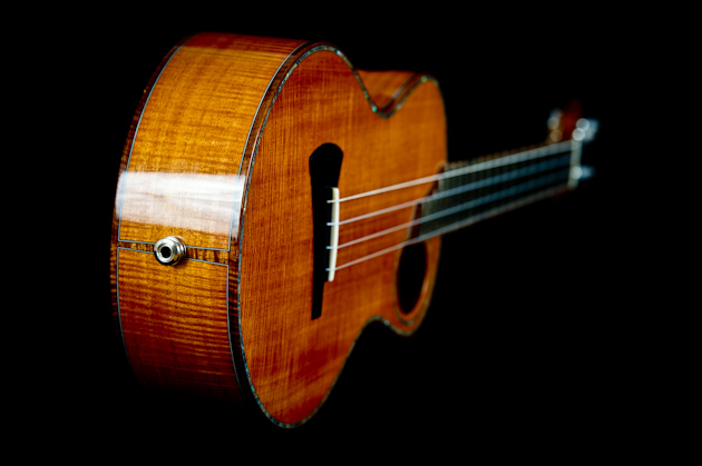 cuban mahogany ukulele side tail