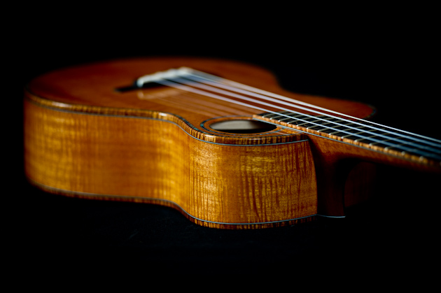 cuban mahogany ukulele top side