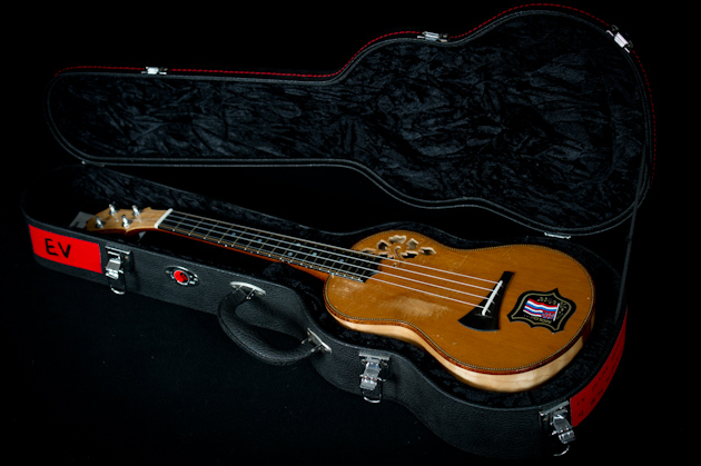 Eddie Vedder's ukulele in case