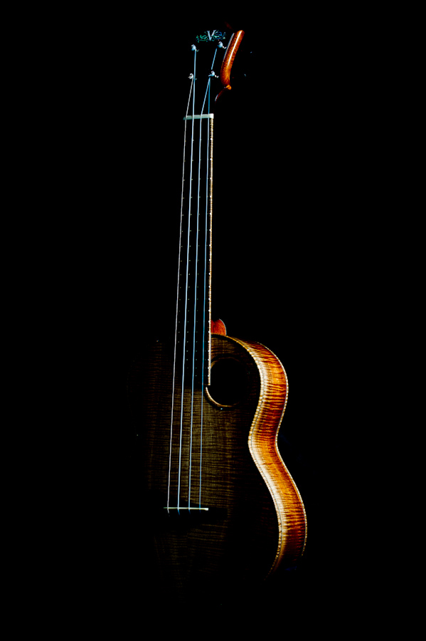tenor ukulele white koa side