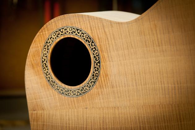new devine ukulele rosette after fill