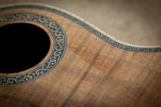 new devine ukulele rosette and purfling