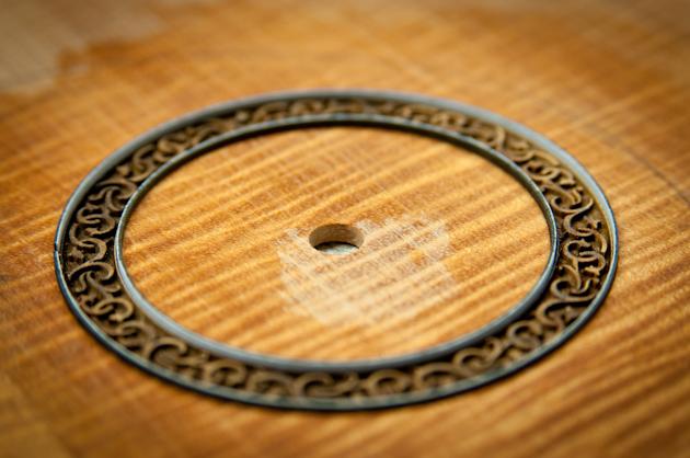 new devine ukulele rosette before fill